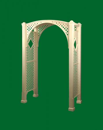 Structural foam garden arbor product.