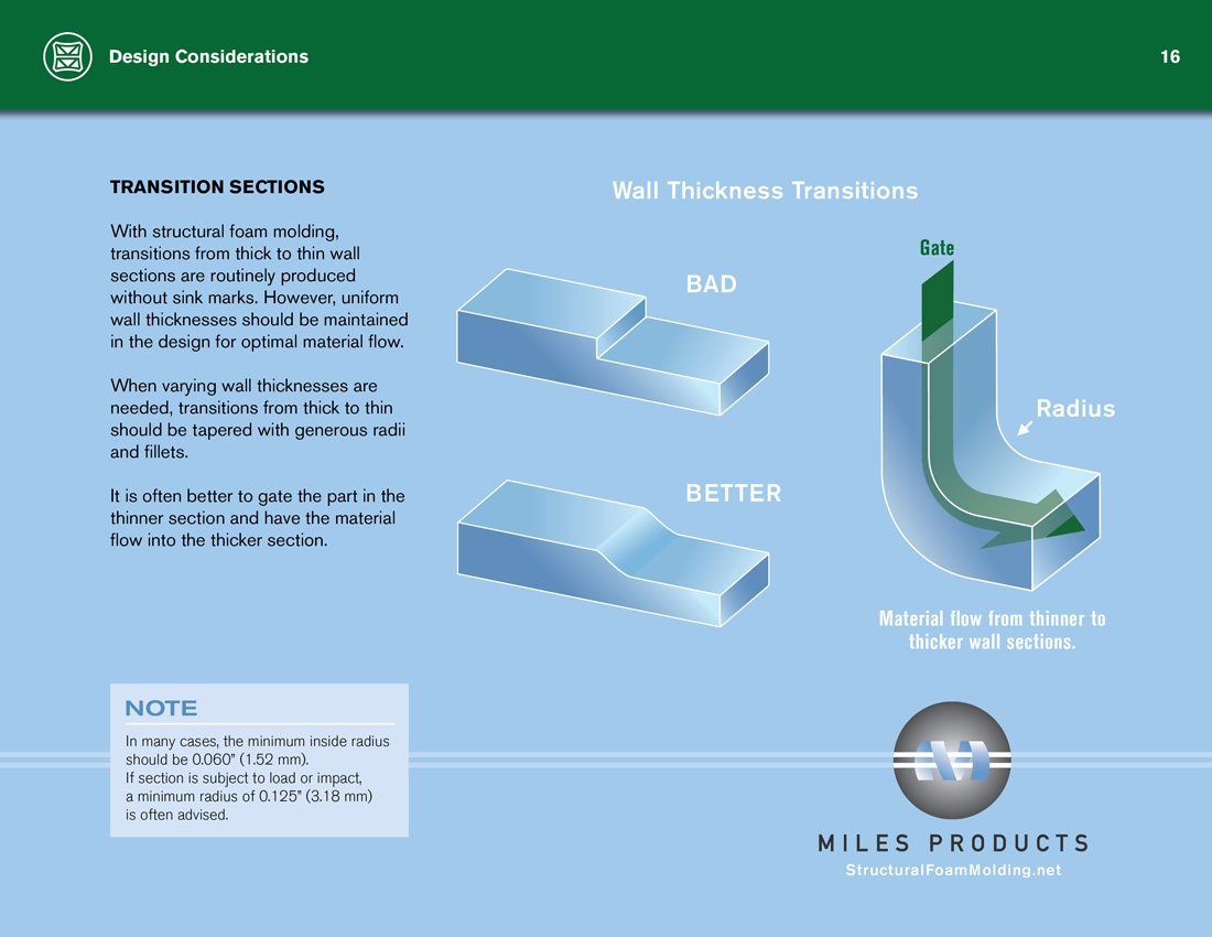 Structural Foam Molding Design Guide Transitions Sections Page