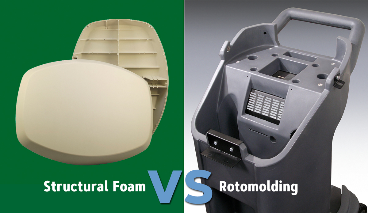 Structural Foam vs Rotomolding